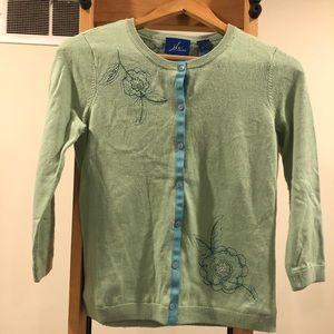Women's silk-blend 3/4 sleeve cardigan